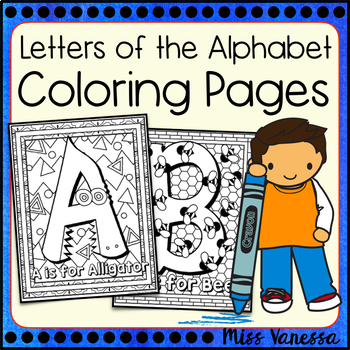 Letters Of The Alphabet Coloring Pages ~ Uppercase & Lower
