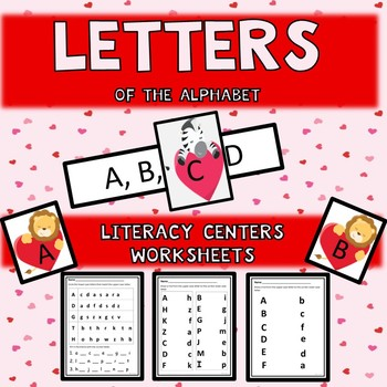 Letters of the Alphabet Valentine Theme