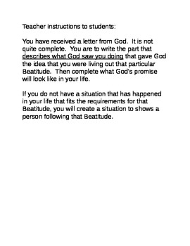 Letters on Beatitudes