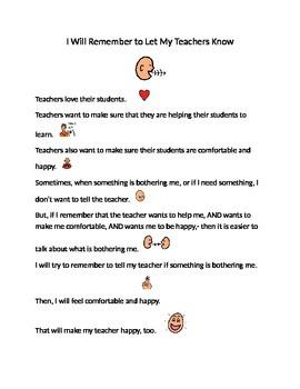 Letting My Teachers Know