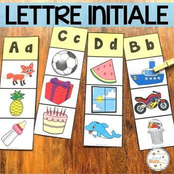 Lettre initiale - jeu d'association/alphabet/images