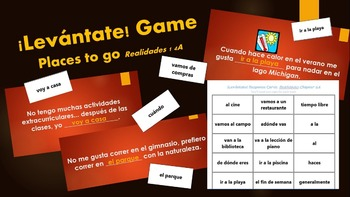 Levantate Game for Realidades 1 4A Vocabulary