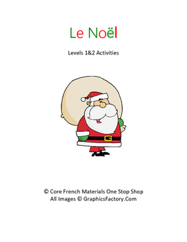 Level 1&2 Christmas French Activities Bundle