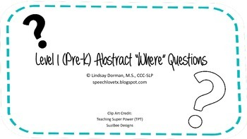 """Level 1 Abstract """"Where"""" Questions Set"""