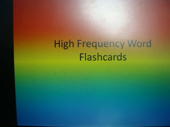 Level 1 High Frequency Words Flashcards