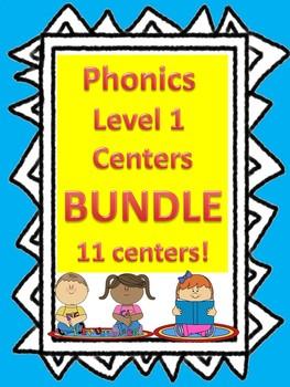 Level 1 Phonics Centers BUNDLE