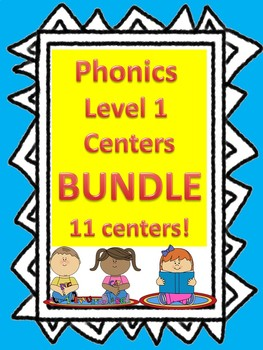 Level 1 Phonics Centers BUNDLE