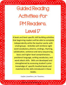 Level 17 Guided Reading Activities for PM Readers
