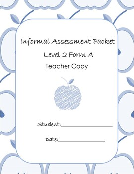 Special Education Assessment Packet Level 2 Teacher