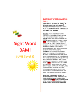 Level 3_SUNS Sight Word BAM! Game