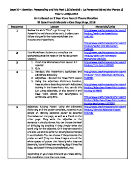 Level 6 Unit 2 (Year 1) Identity Part 1 Unit Outline and A