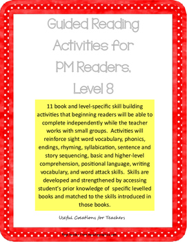 Level 8 Guided Reading Activities for PM Readers