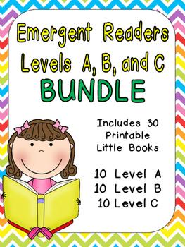 Levels A, B, and C Emergent Reader Mega Bundle for Kinderg
