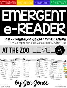 Level A Emerging e-Reader & e-Activities: At the Zoo (Engl