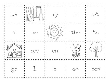 Level A Sight Word Making Sentences