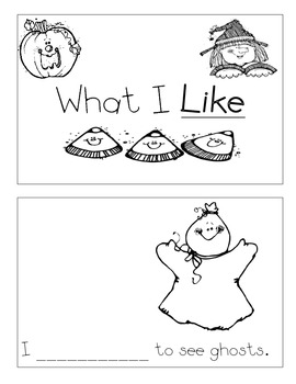 Level B Sight Word Reader-Like (Halloween)