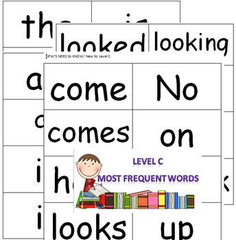 Level C Guided Reading Flash Cards
