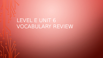Level E Unit 6 Sadlier Vocabulary Review Activity--Creativ