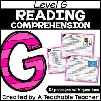 Level G Reading Comprehension Passages