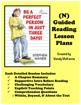 Level N Guided Reading Lesson Plans: Be A Perfect Person I