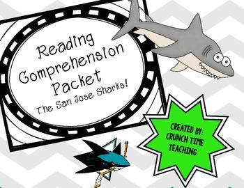 Level Reading Comprehension Packet: Sharks