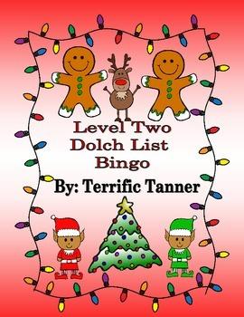 Level Two Dolch Christmas Bingo