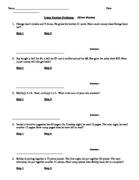 Leveled 2-Step Word Problems