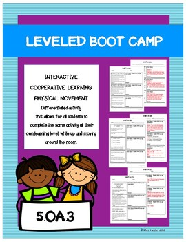 Leveled- BOOT CAMP- Math Activity- 5.OA.3