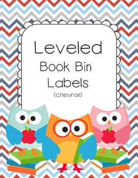 Chevron Themed Leveled Book Bin Labels for AR (Accelerated