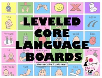 Leveled CORE Language Communication Boards for Functional