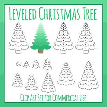 Leveled Christmas Tree - Measuring Christmas Tree Clip Art