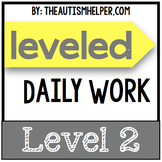 Leveled Daily Work {Level 2}