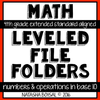 Leveled File Folder: Numbers and Operations (4th Extended