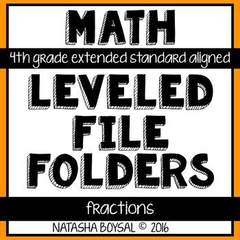 Leveled File Folder: Fractions (4th Grade Extended Standar