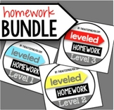 Leveled Homework BUNDLE