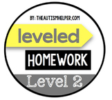 Leveled Homework {Level 2}
