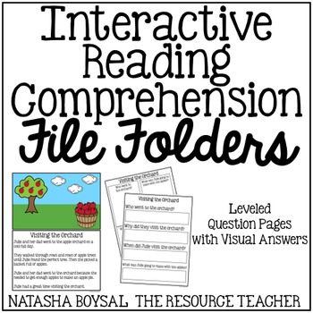 Leveled Interactive Reading Comprehension File Folders