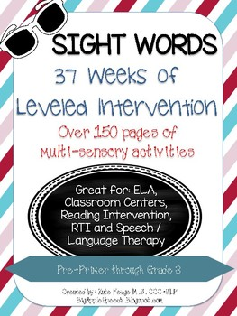 Leveled Interactive Reading Intervention Bundle:Dolch Sigh