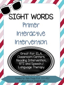 Leveled Interactive Reading Intervention: Primer Dolch Sig