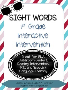Leveled Interactive Reading Intervention: Grade 1 Dolch Si