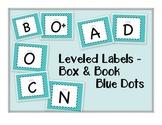 Leveled Labels - Boxes & Books Blue Dot