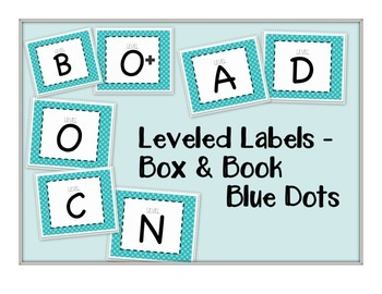 Leveled Labels - Boxes & Books Blue Dot