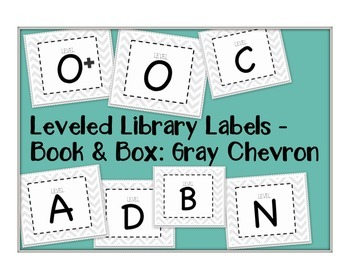 Leveled Labels - Boxes & Books Gray Chevron
