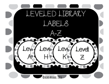 Leveled Library Labels A-Z *Non-editable