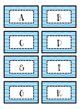 Leveled Library Labels: A-Z blue waves