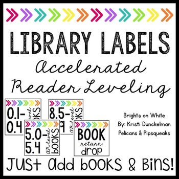**EDITABLE** Leveled Library Labels (Accelerated Reader--A