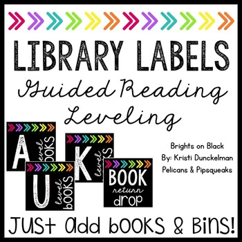 **EDITABLE** Leveled Library Labels (Guided Reading) Brigh
