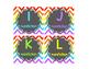 Leveled Library Labels Rainbow chevron & chalkboard