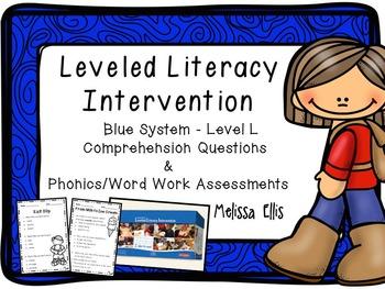 Leveled Literacy Intervention: Blue Level L Comprehension