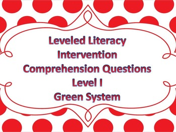LLI Multiple Choice Comprehension Assessment Level I Green System